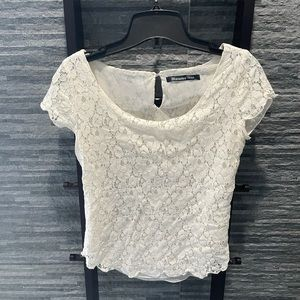 Bluenotes Lace Short Sleeve Top
